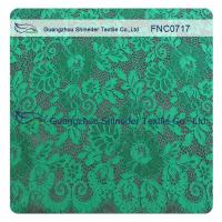 Green Scalloped Edge Lace Fabric Manufactures