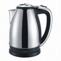 China Stainless Steel Electric Kettle by power of 1,500W, 1.5/1.8 liters jug optional, boil-dry protection on sale