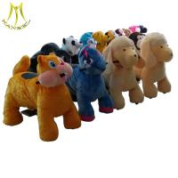 China Hansel high quality coin operated plush animal electric scooters on sale