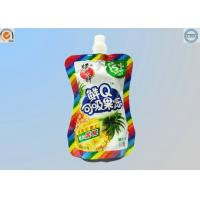 Small Food Grade Plastic Bags , Stand Up Spout Pouch For Liquid / Particle Product Manufactures