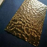 Embossed Stainless Steel Panels Gold Mirror Finish For Hotels Villa Lobby Interior Decoration 201 304 316 Manufactures