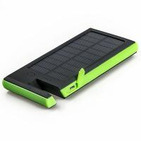 Silicon Real High Power 8000mAh Polymer Battery Dual USB Waterproof Solar Power Bank with phone holder Manufactures
