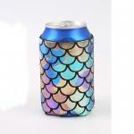 Neoprene Beer Bottle Cooler Bag , Customized Logo Printed Beer Bottle Covers Manufactures