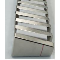Trapezoid Shaped N52 Industrial Neodymium Magnets Strong High Working Temperature Manufactures