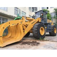 China LONKING 5 ton wheel Loader with solid tyres steel scrap clamp attachment on sale