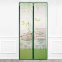 China fine printing screen door , invisible magnetic screen door curtain,90*210cm on sale