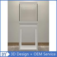 Wholesale good quality wooden square matte white perspex display stands with fully locks lights Manufactures