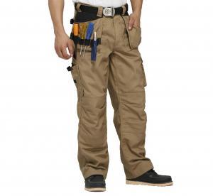 Cordura Reinforcement Heavy Duty Canvas Work PantsAnti Rubbing With Multi Pocket Manufactures