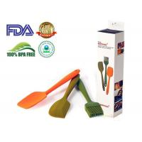 Blue Red Green Silicone Kitchen Tools Large Silicone Spatula Set 3 Piece Manufactures