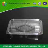 Clamshell Cupcake Containers , Clear Plastic Clamshell Containers Compartment Fruit Pack