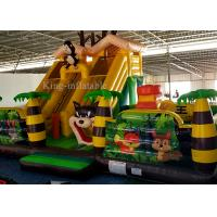 Buy cheap Cheap PVC Inflatable Green Palm Tree Funny Animal Zoo Bouncer Castle For Kids from wholesalers