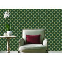 Embossed Pvc Contemporary Wall Coverings , Four Leaf Home Floral Wallpaper For Walls Manufactures