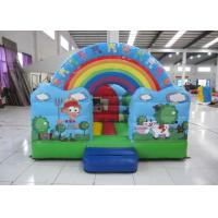 China Outdoor Rainbow Farm Kids Inflatable Bounce House 0.55mm PVC 3 X 2m For Party on sale