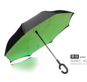China C handle Reverse Folding Umbrella, opposite umbrella, upside down reversible Inverted umbrella on sale
