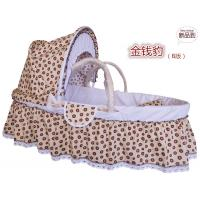China grass baby moses basket corn husk baby moses basket bed with liner set on sale