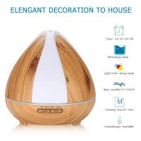 China 400ml Wooden Aroma Diffuser 400ml Aroma Diffuser for Essential Oil Aromatherapy Ultrasonic Cool Mist Humidifier on sale