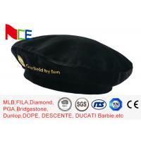 FUN Black Mercerized Female Green Beret Hat Embroidered Velvet Beret Hat Breathable Manufactures