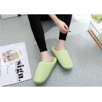 China Comfortable Winter Comfortable House Slippers Warm Suede Fabric Plain Upper on sale