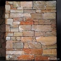 Natural stone Cement Back Ledge Stone , External Stone Wall Cladding With Cement Backing Manufactures