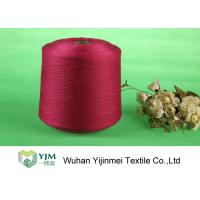 Sewing / Knitting Colorful Bright Polyester Yarn With Staple Short Fiber Material Manufactures