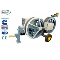 5T Transmission Line Equipment Hydraulic Tensioner Machine With 1300/1500mm Bull Wheel Manufactures