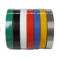 China Color Coated Aluminum Strip Coil Double Coating 25 Micron Single Coating 18 Micron on sale