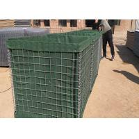 Military hesco barriers, hesco bastion barrier, green hesco gabion box filled with sand Manufactures