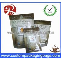 China Heat Sealing Food Grade Bags Top Ziplock With Bottom Gusset on sale