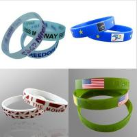 China Eco-friendly Debossed Customized Silicone Bracelets  with Charm for Promotion Gifts BJ-029G on sale