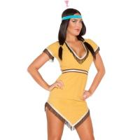 Yellow Native Lily Costume Sexy Girl Halloween Costume Dress And Hairband Manufactures