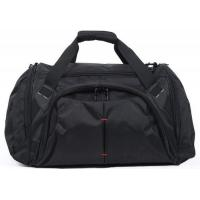 Customized Portable Black  Duffel Bags Luggage Fashionable 600D Polyester Material Manufactures