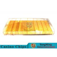 Mixing Gold Luxury Casino Chip Tray Yellow Color For Gambling Porker Chip Games Manufactures