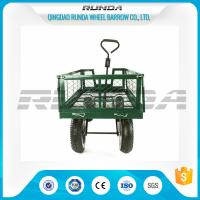 Steel Mesh 4 Wheel Garden Cart  Load Capacity 150-300kg Powder Coated Finish Manufactures