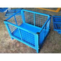 Galvanized / Powder Coating Metal Pallet Cages For Small Parts Storage Manufactures