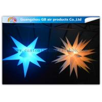 Indoor Colorful Star Inflatable Lighting Decoration Advertising For Event Manufactures