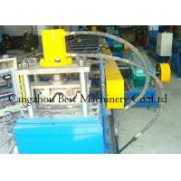 Chain Driven 2 Waves W Beam Highway Guardrail Roll Forming Machine 8-12m/Min Capacity Manufactures