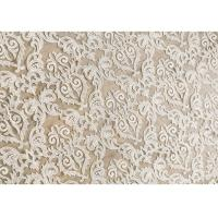 Off White Embroidery Floral Corded Lace Fabric By The Yard For Bridal Dress Manufactures