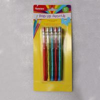Easter Plastic Multi Head Bullet Push Pencil Logo Printing With Cap Manufactures
