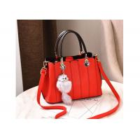 Large Capapcity Ladies Leather Handbags 899W Cotton / Polyester Lining Inside Manufactures