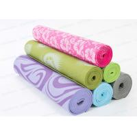 Patterned Long Thick Non Slip Yoga Mat For Bad Knees custom Printing Manufactures