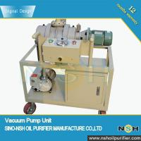 Quality Transformer Use Vacuum Pump Unit ,high sucking speed,used in transformer vacuum, drying and degassing, high quality for sale