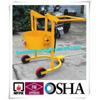 Four Wheels Hand Trolley For Steel Drums Storage Cabinets , Portable Drum Lift Trolley Manufactures