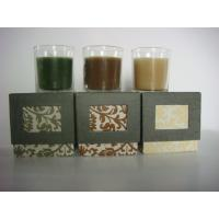Quality glass jar candle gift set for sale