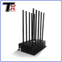 China 24 Hours 100W High Power Mobile Phone Jammer 10 Antenna Adjustable With AC Adapter on sale