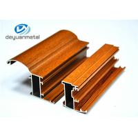 Customized Wood Grain Aluminum Extrusion Profiles For Doors 6063-T5 / T6 Manufactures