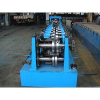 C Z Purlin Interchangeable Steel Rolling Machine / Metal Roll Forming Machine In Warehouse Building Manufactures