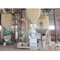 1t/H Wood Pellet Production Line , Sawdust Pellet Mill 12-120 Rpm Feeder Auger Speed Manufactures