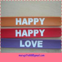 cheap custom made silicone slap bracelet Manufactures
