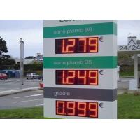 Red LED Price Signs For Gas Stations / SMD Dynamic led price display Outdoor Manufactures