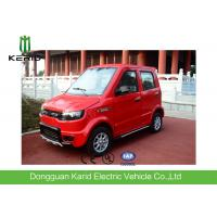 Red Color Four Seater Electric Car , Economic Smart Fully Electric Vehicles Manufactures